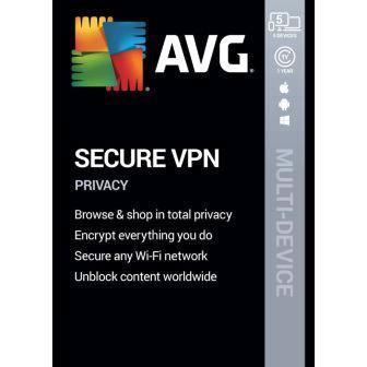 AVG VPN for 5 Multi Devices - 1 Year