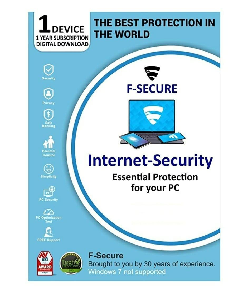 F-secure Internet Security 1 PC 1 Year